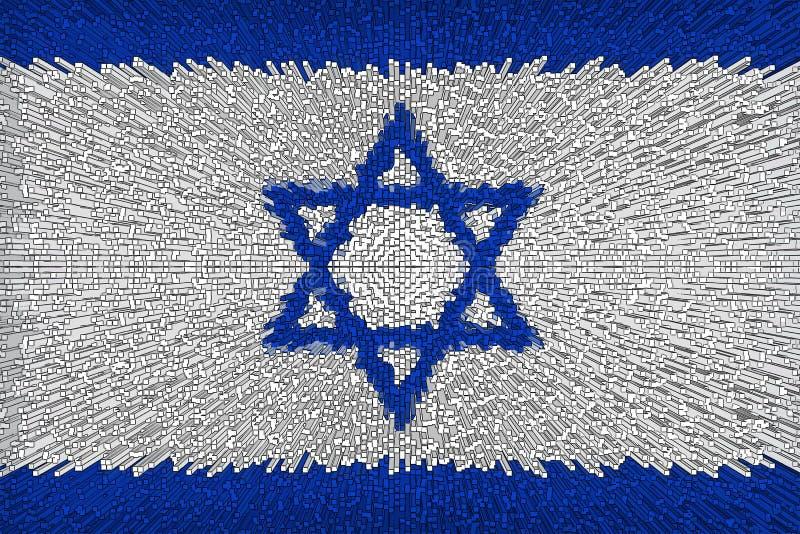 Fondo hermoso de la bandera del cierre de Israel para arriba stock de ilustración