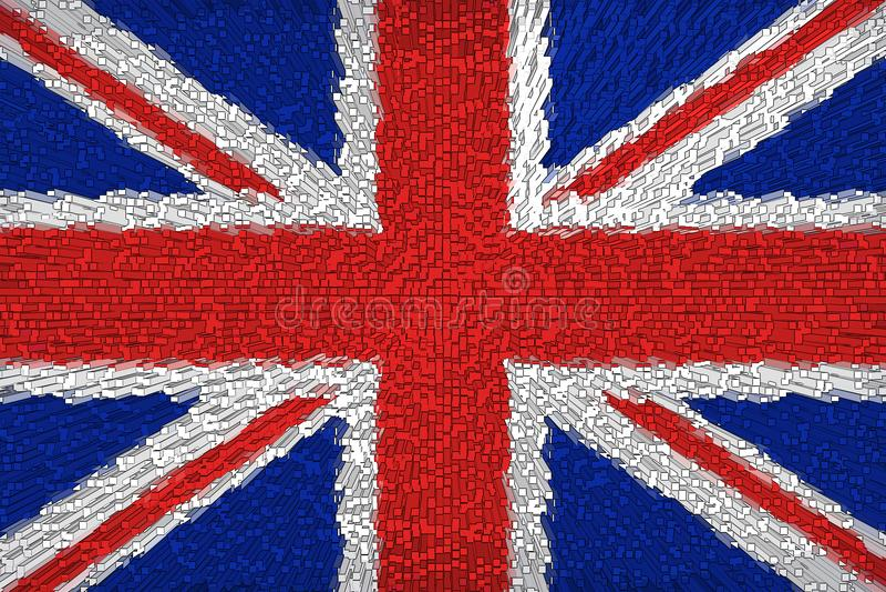 Fondo hermoso de la bandera de Gran Bretaña libre illustration