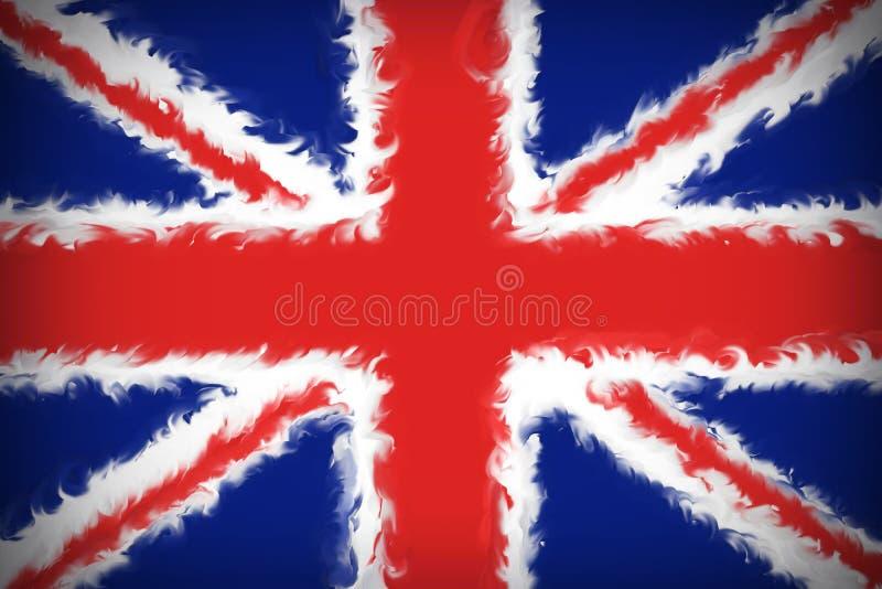 Fondo hermoso de la bandera de Gran Bretaña stock de ilustración