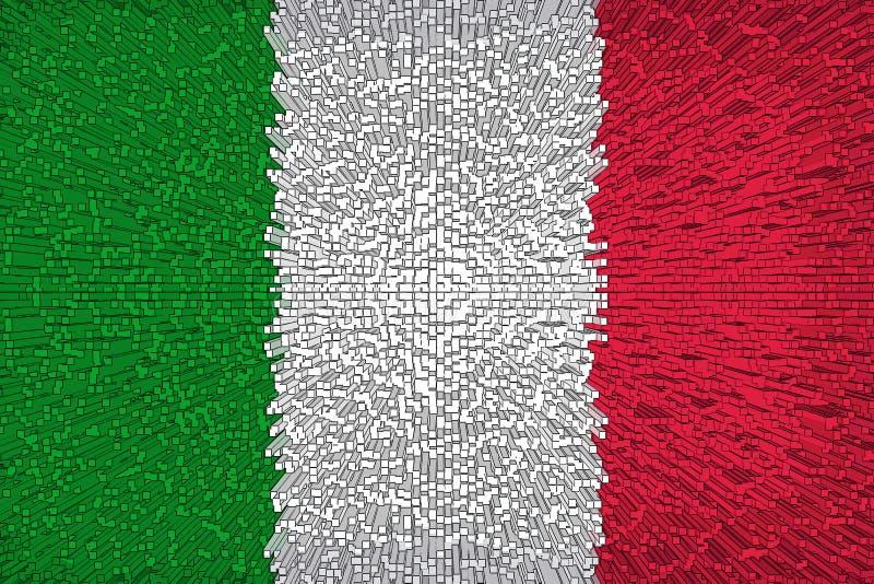 Fondo hermoso de la bandera italiana stock de ilustración