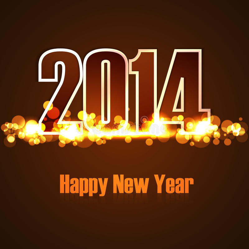 Fondo hermoso 2014 de la Feliz Año Nuevo del día de fiesta de la celebración stock de ilustración