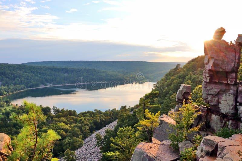 Fondo hermoso de la naturaleza del verano de Wisconsin imagen de archivo libre de regalías
