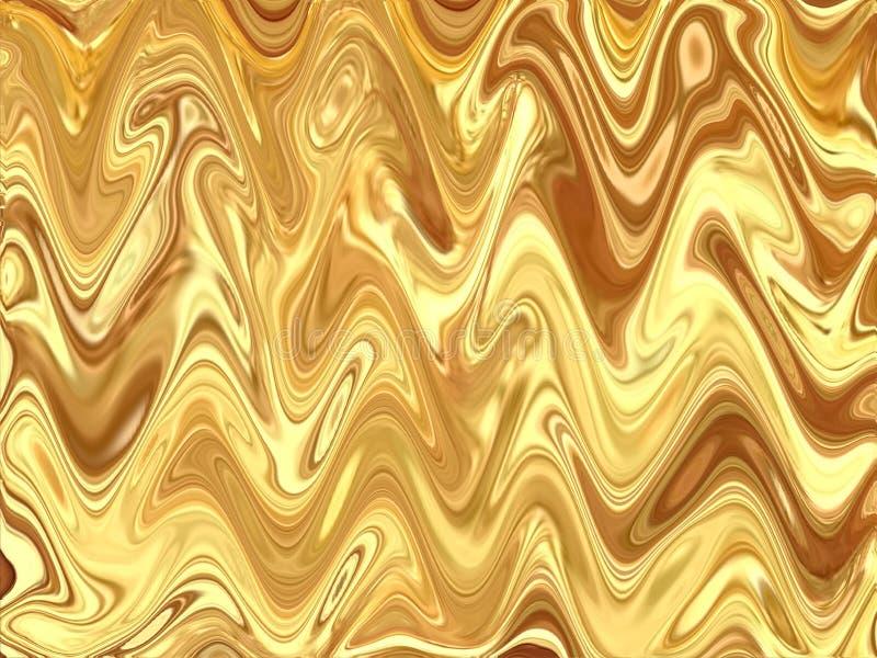 Fondo hermoso de la textura del extracto de la ondulación del color oro fotos de archivo