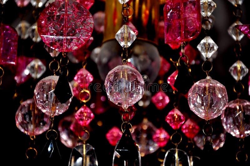 Fondo hermoso de los cristales de la lámpara foto de archivo