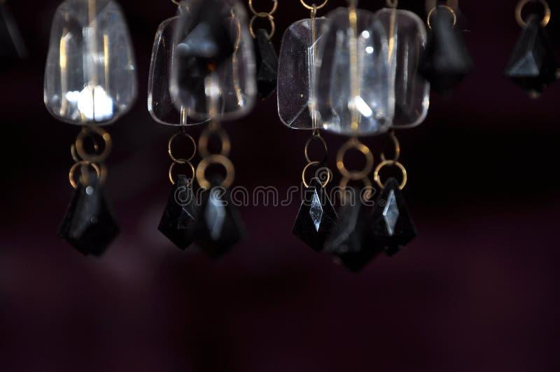 Fondo hermoso de los cristales de la lámpara fotos de archivo