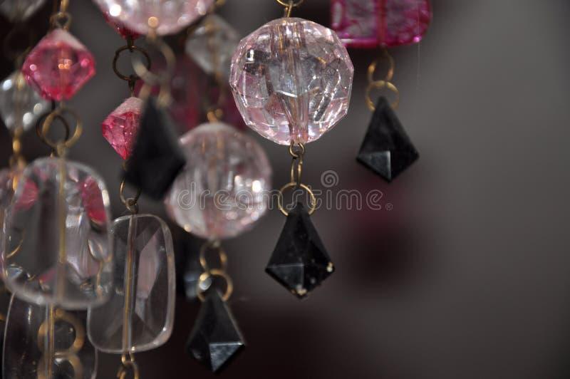 Fondo hermoso de los cristales de la lámpara fotografía de archivo