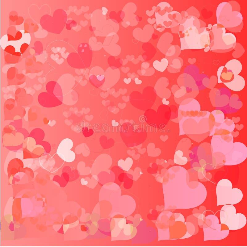 Fondo hermoso del día de tarjetas del día de San Valentín con los ornamentos y el corazón. ilustración del vector