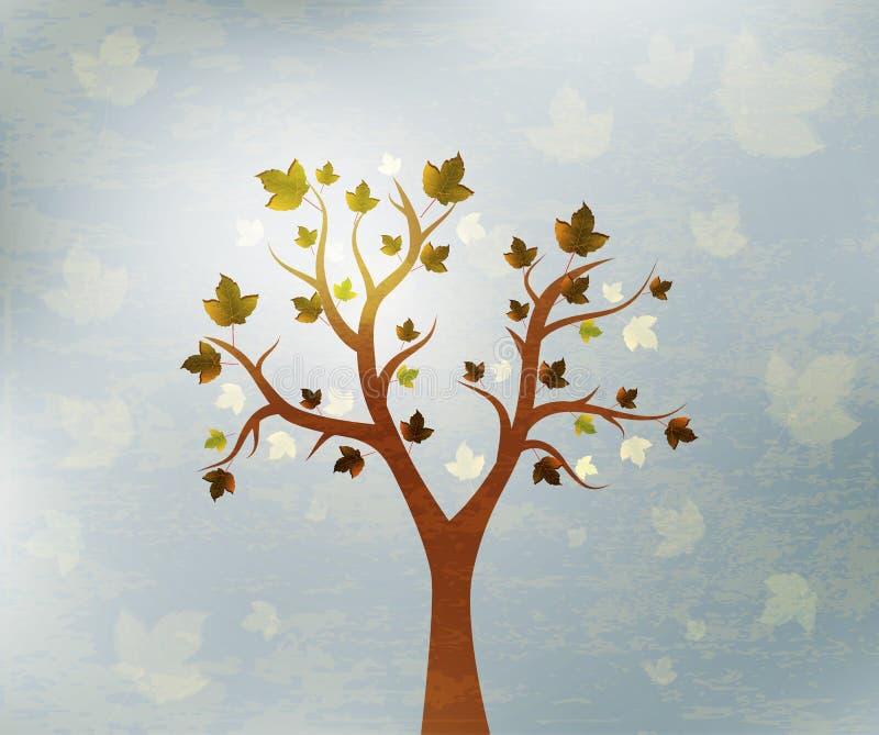 Fondo hermoso del diseño del árbol stock de ilustración