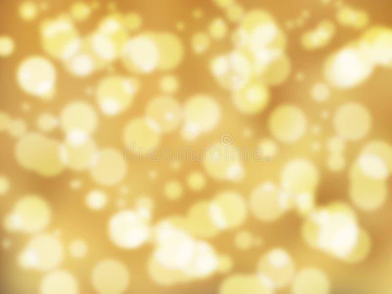 Fondo hermoso del extracto del bokeh del color oro fotos de archivo libres de regalías