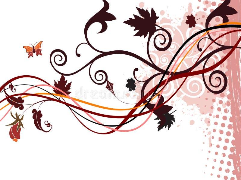 Fondo hermoso del extracto del otoño ilustración del vector