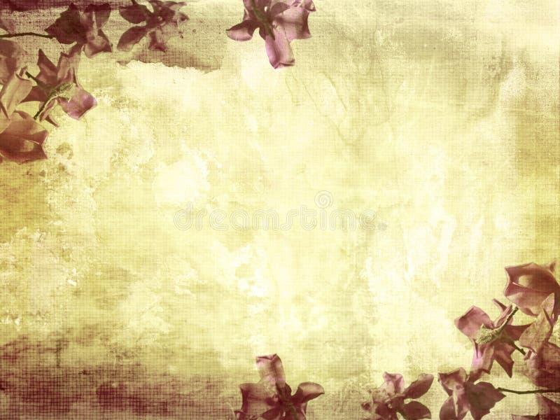 Fondo hermoso del grunge con la magnolia ilustración del vector