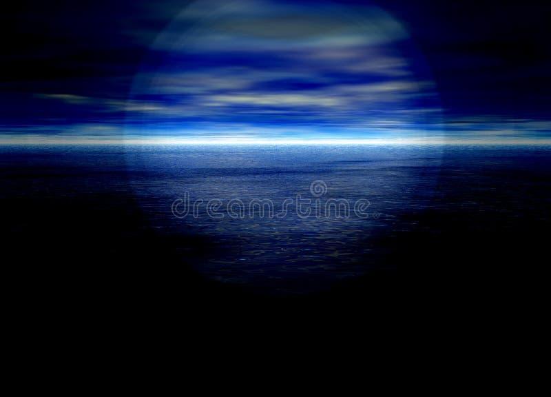 Fondo hermoso del horizonte distante azul brillante ilustración del vector
