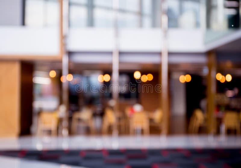 Fondo hermoso del interior del restaurante de la falta de definición abstracta imagenes de archivo