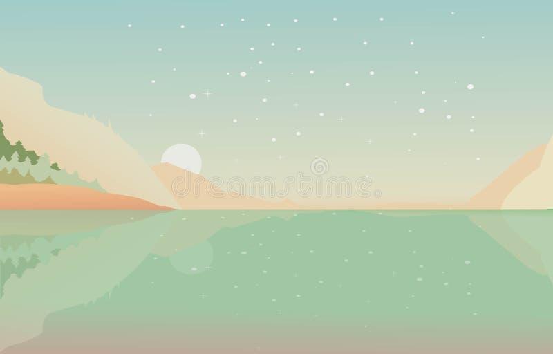 Download Fondo hermoso del lago ilustración del vector. Ilustración de outdoors - 64208895