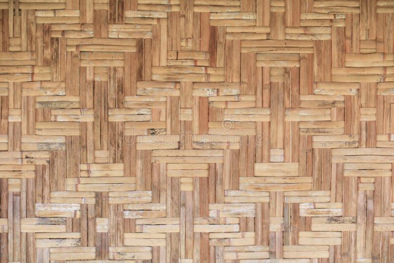 Fondo hermoso del modelo de la vieja de la armadura textura de bambú de la pared imágenes de archivo libres de regalías