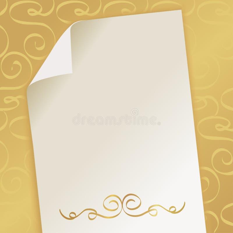 Fondo hermoso elegante con el monograma stock de ilustración