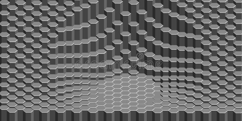 Fondo hexagonal abstracto ilustración del vector 3d Futuristi libre illustration