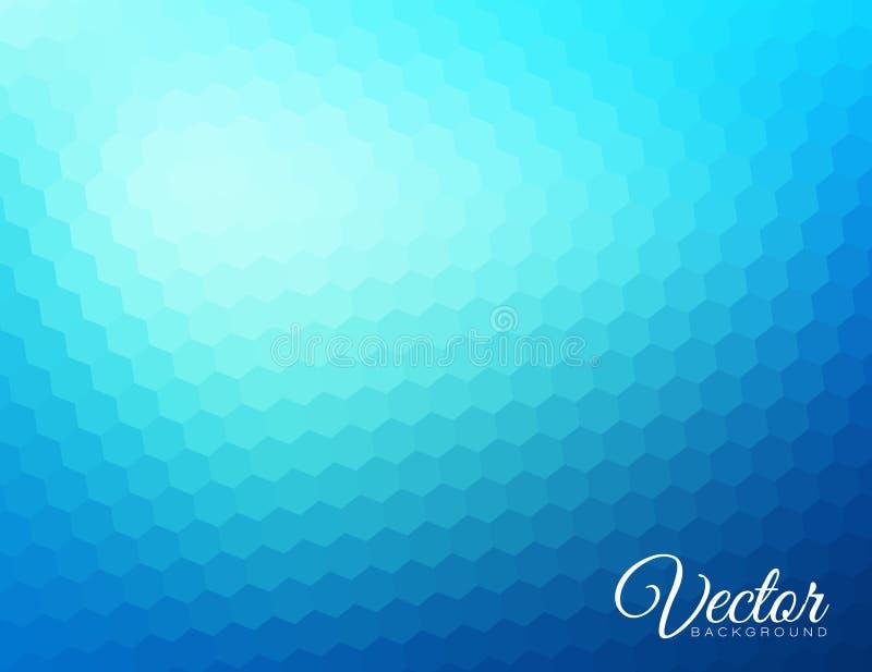 Fondo hexagonal borroso extracto ilustración del vector