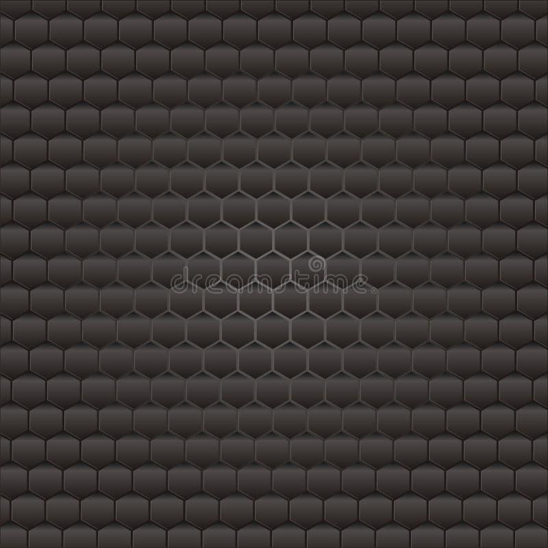 Fondo hexagonal de la colmena libre illustration