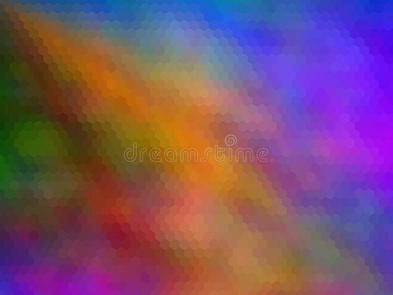 Fondo hexagonal pixeled multicolor Colores brillantes foto de archivo