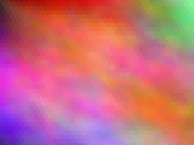 Fondo hexagonal pixeled multicolor Colores brillantes del arco iris foto de archivo