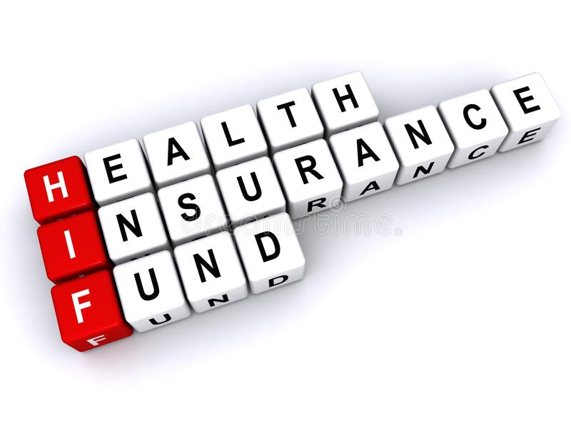 Fondo HIF dell'assicurazione malattia illustrazione vettoriale
