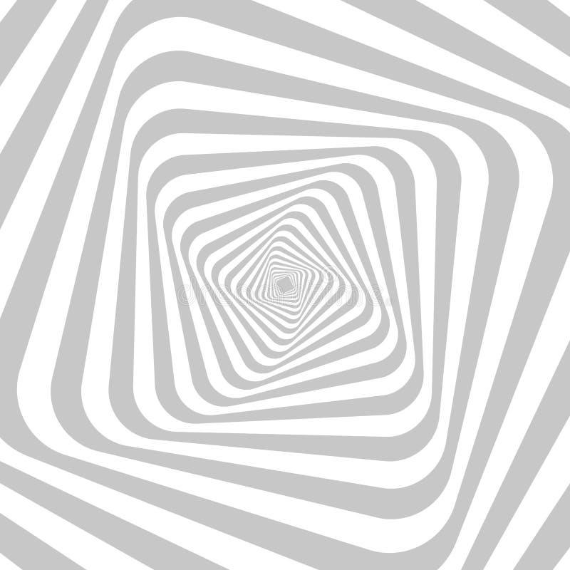 Fondo hipnótico abstracto para su diseño Ilusión óptica del movimiento de la distorsión del espacio libre illustration