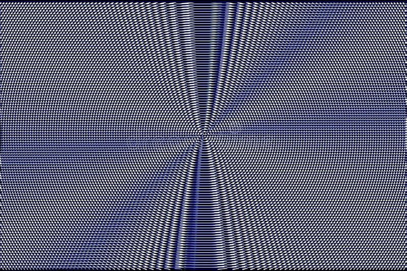 Fondo hipnótico azul de la ilusión óptica Textura de mosaico abstracta Modelo de la interferencia libre illustration