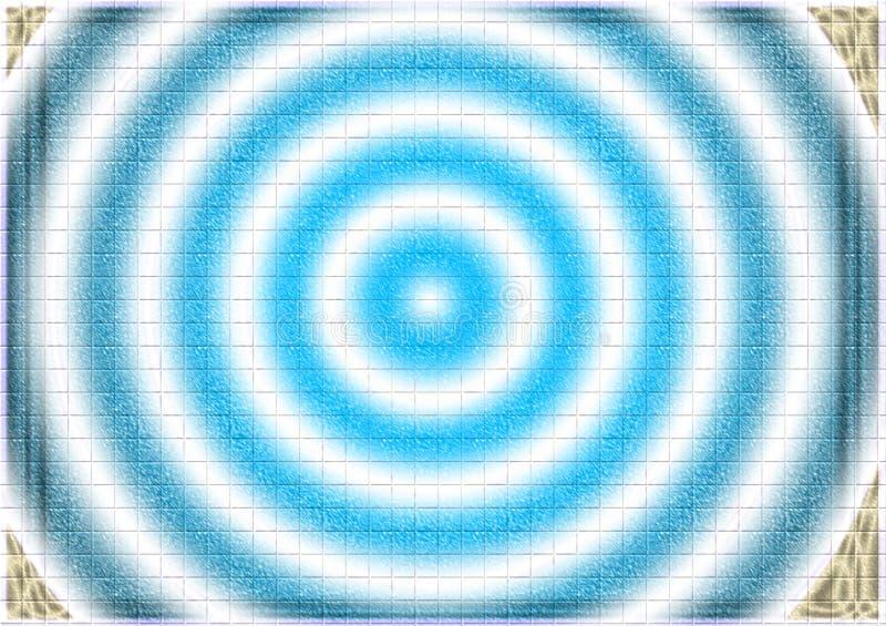 Fondo hipnótico azul del extracto del remolino ilustración del vector