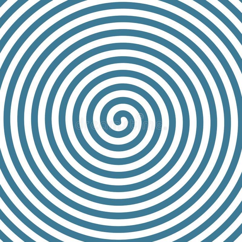 Fondo hipnótico espiral ilustración del vector