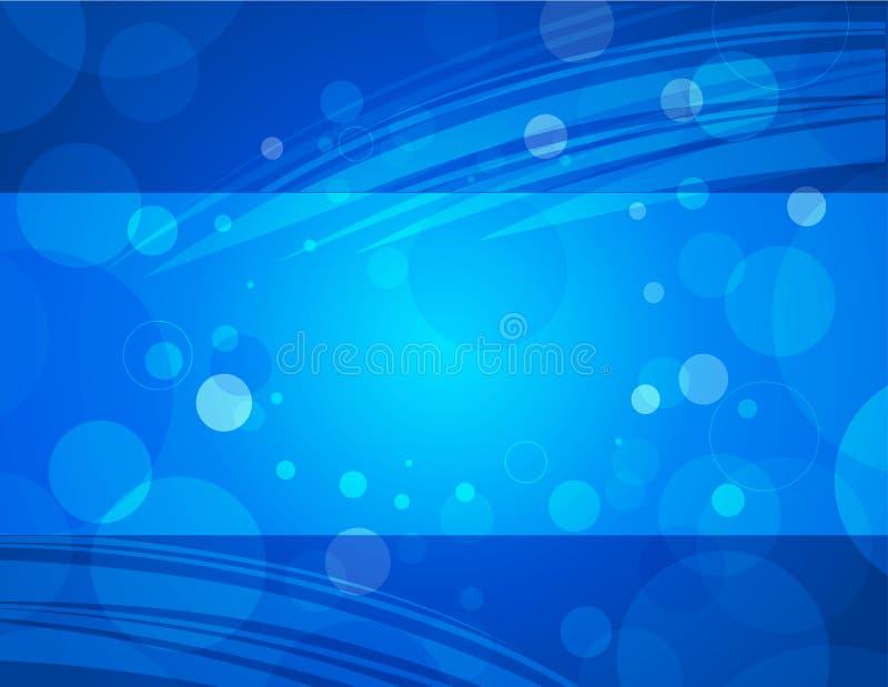 Fondo horizontal azul del asunto del Aqua ilustración del vector
