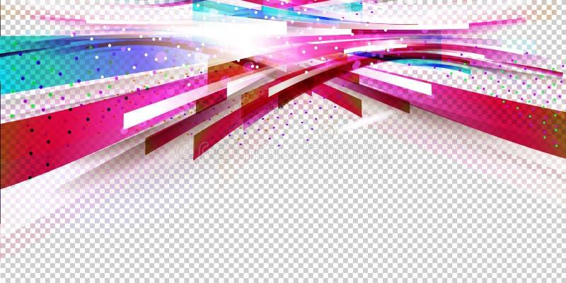 Fondo horizontal del flujo libre illustration