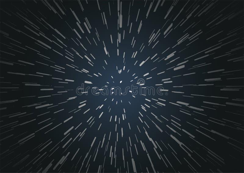Fondo Hyperspace del viaje de la velocidad libre illustration