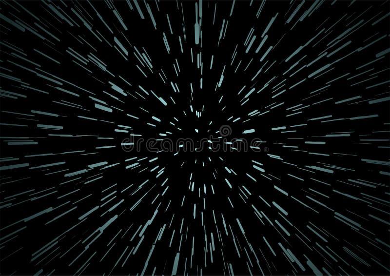 Fondo Hyperspace del viaje de la velocidad stock de ilustración