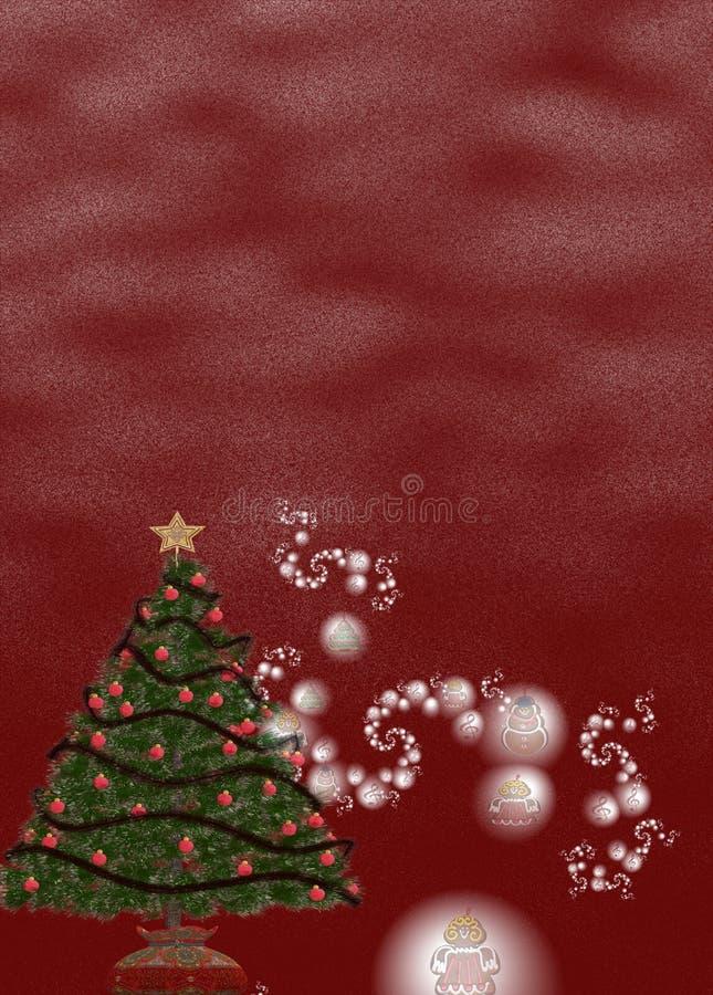 Fondo II de la Navidad ilustración del vector