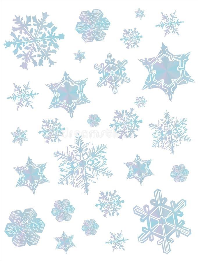 Fondo II de los copos de nieve ilustración del vector