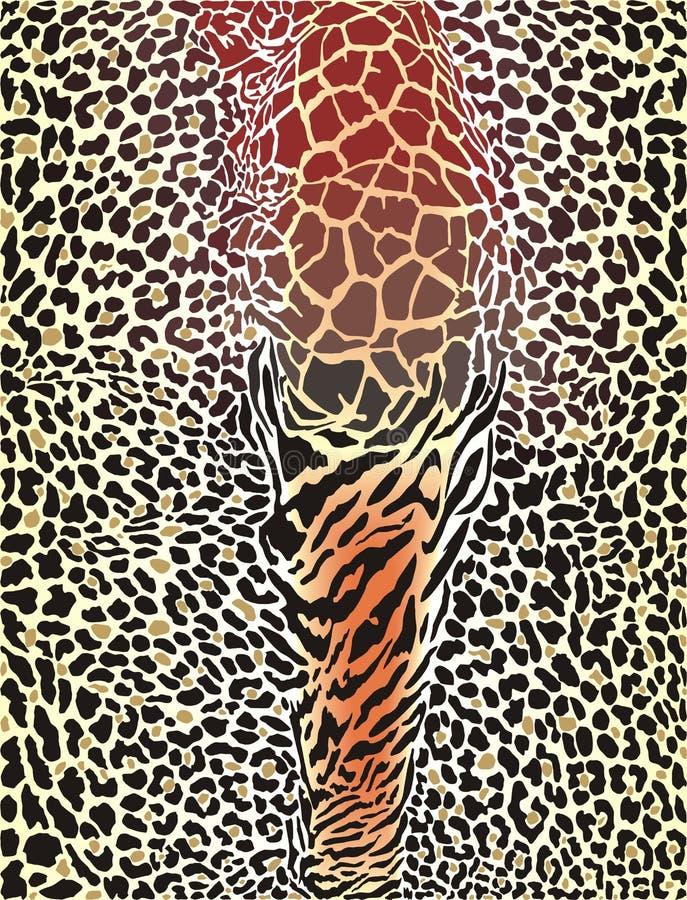 Fondo impreso modelo del animal salvaje stock de ilustración