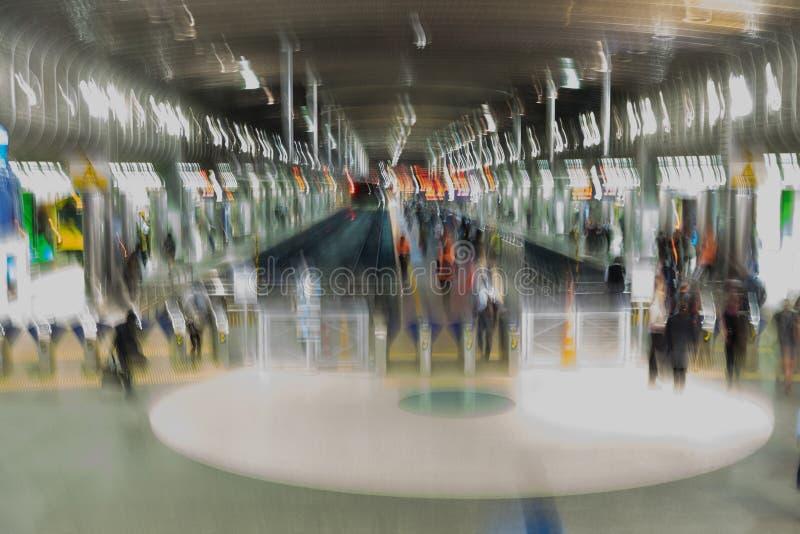 Fondo impressionista astratto del transp del treno della ferrovia di Britomart fotografie stock libere da diritti