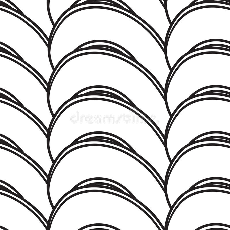 Fondo inconsútil abstracto con curvar líneas libre illustration
