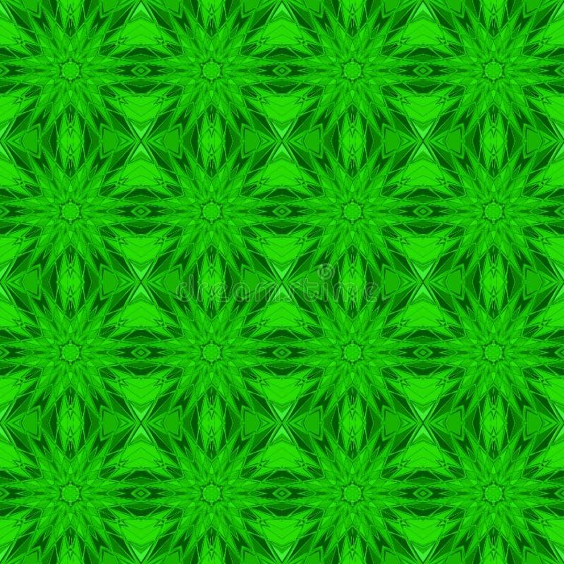Fondo inconsútil abstracto de figuras verdes ilustración del vector