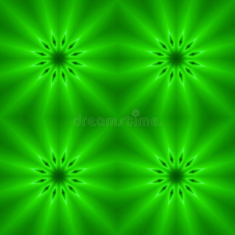 Fondo inconsútil abstracto de figuras verdes stock de ilustración