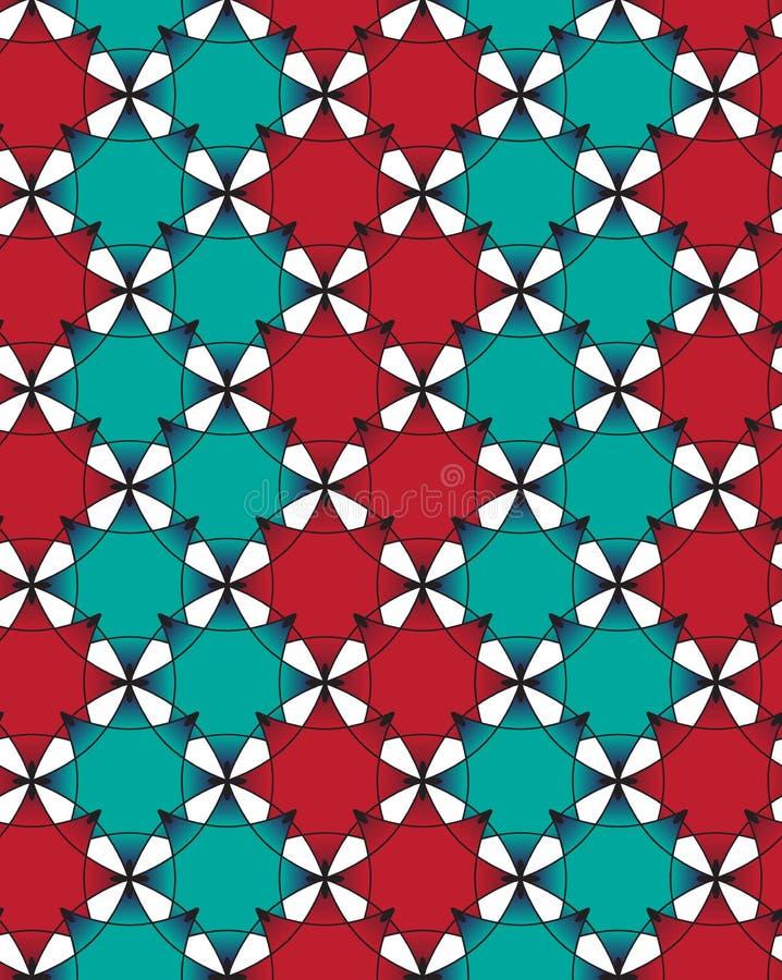 Fondo inconsútil abstracto de los modelos, concepto floral, repitiendo diseño del vector de las tejas de la textura libre illustration