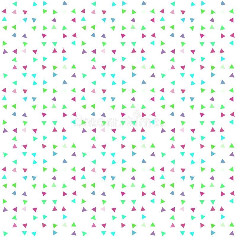 Fondo inconsútil abstracto del modelo con los triángulos variados multicolores libre illustration