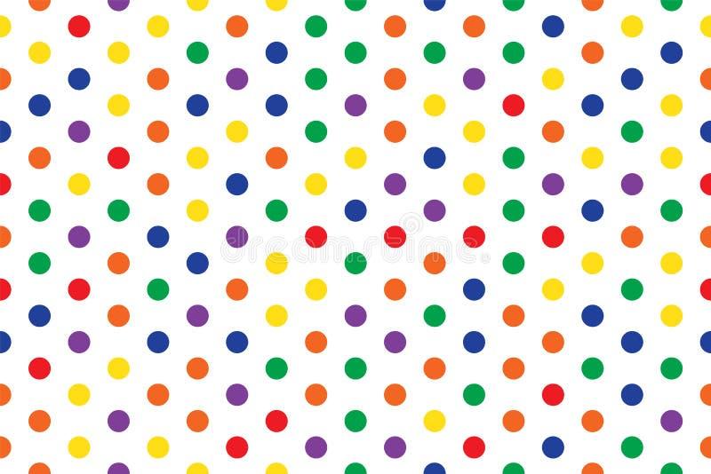 Fondo inconsútil abstracto del multicolor del modelo del círculo stock de ilustración