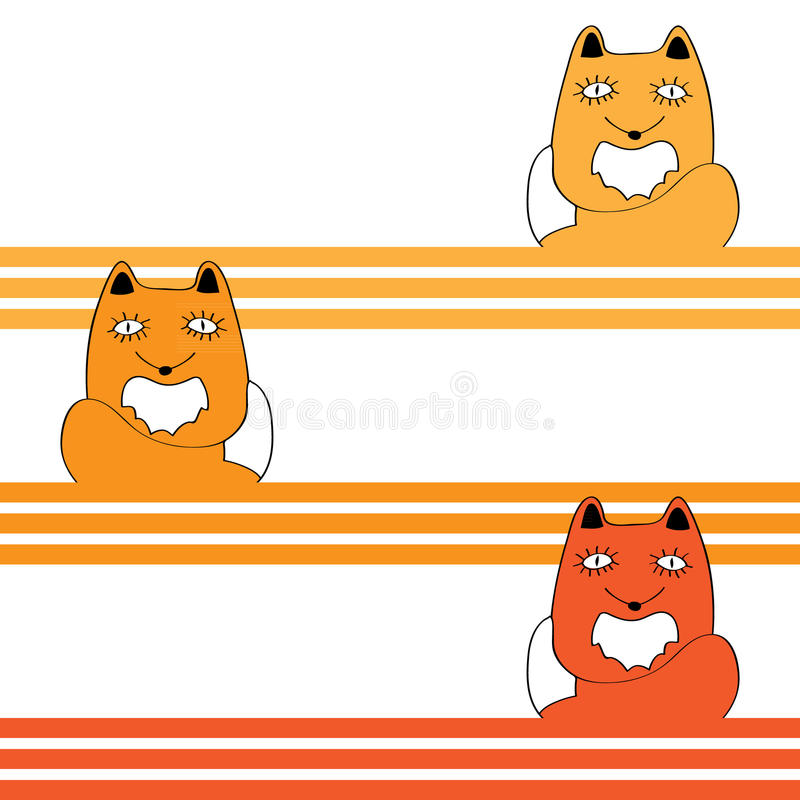 Fondo inconsútil abstracto del vector con el Fox libre illustration