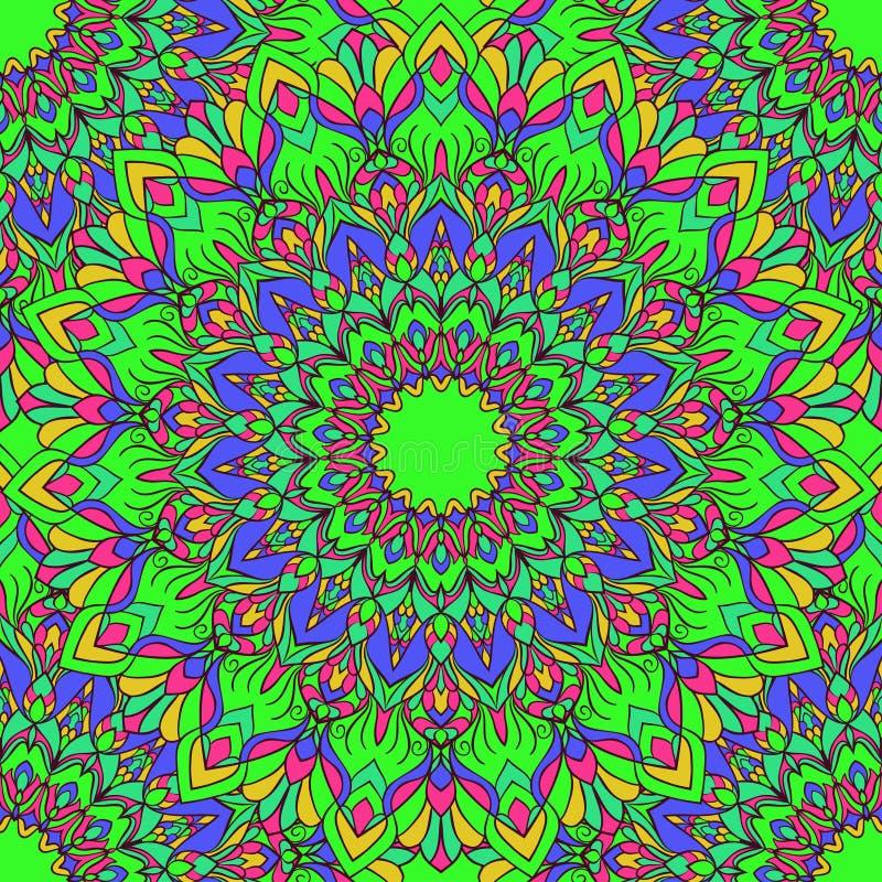 Fondo inconsútil abstracto floral ornamental del mano-dibujo glaring compuesto brillante con muchos detalles para el uso en diseñ libre illustration