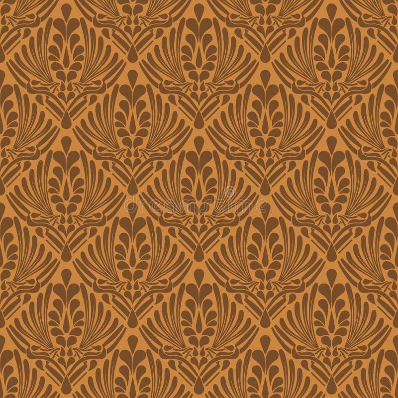Fondo inconsútil abstracto marrón elegante stock de ilustración