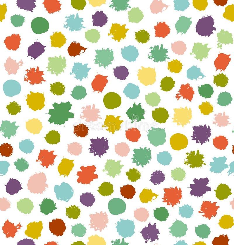 Fondo inconsútil abstracto multicolor divertido ilustración del vector
