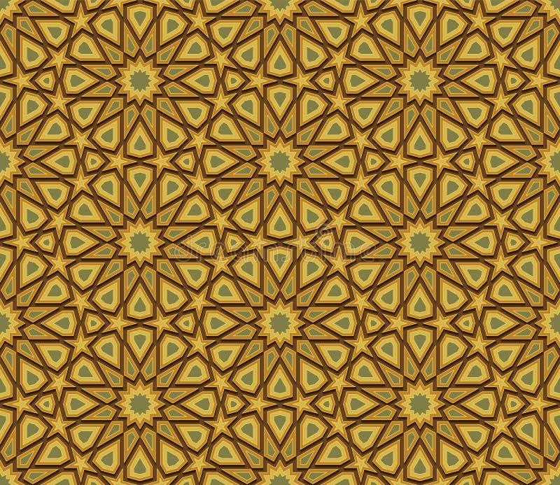 Fondo inconsútil colorido geométrico abstracto stock de ilustración
