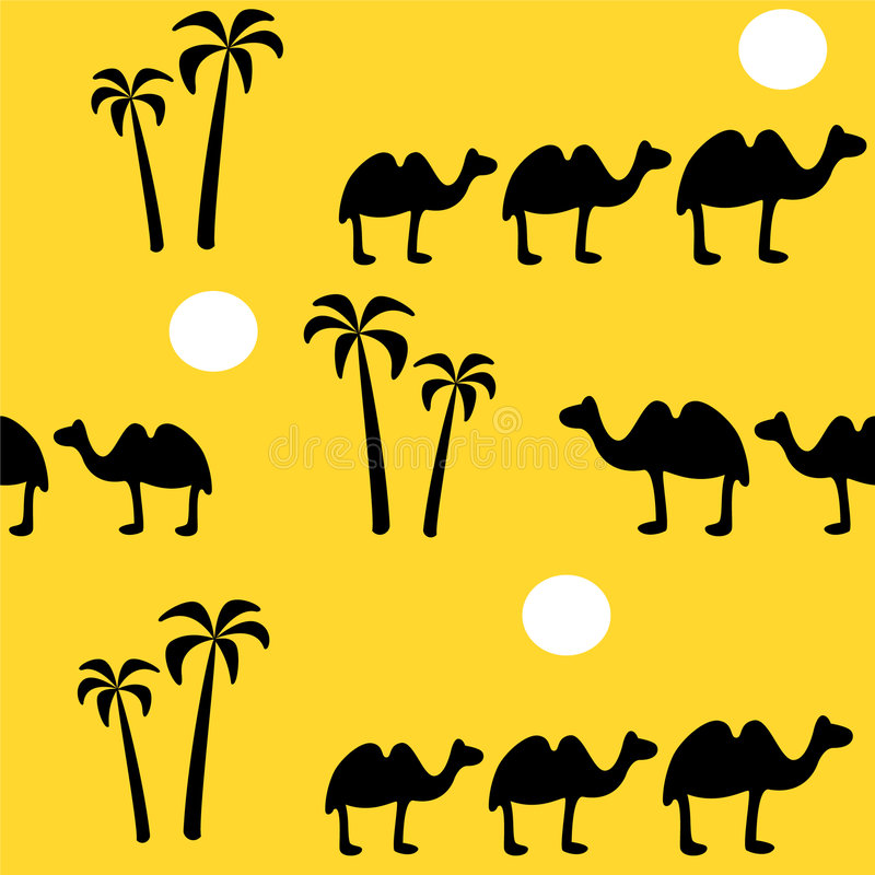 Fondo inconsútil con el camello stock de ilustración